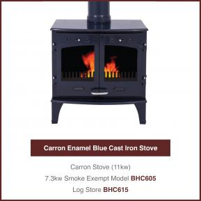 11kw Blue Cast Iron Stove