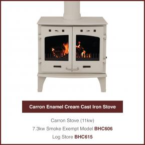 11kw Cream Cast Iron Stove