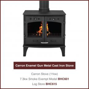 11kw Gun Metal Cast Iron Stove