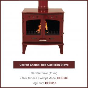 11kw Red Cast Iron Stove