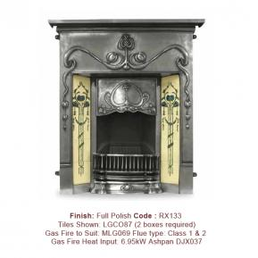 The Valentine Fireplace in a Full Polish finish