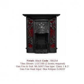 Toulouse fireplace in a Black finish