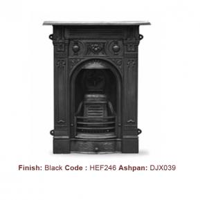 Victorian Fireplace in a Black finish