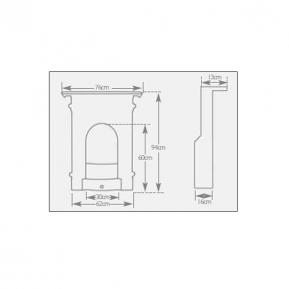 Victorian Fireplace dimensions