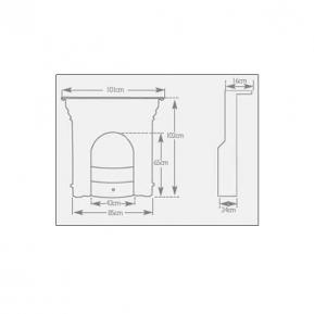 Tweed Fireplace dimensions