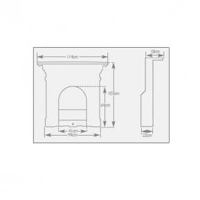 The Melrose Cast Fireplace dimensions