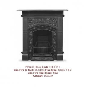 The Jekyll Cast Fireplace in a Black finish