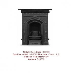 The Hawthorne Cast Fireplace in a Black finish