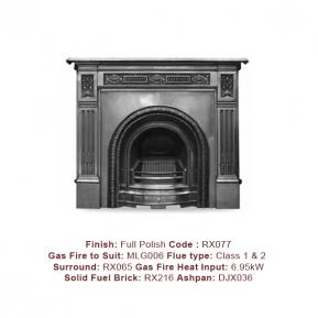The Scotia Cast Fireplace, in a Full Polish finish