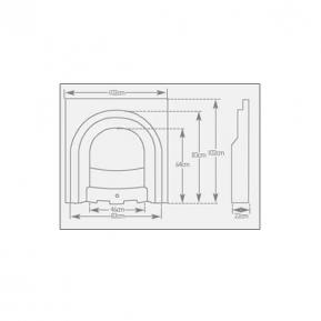 The Scotia Cast Fireplace dimensions