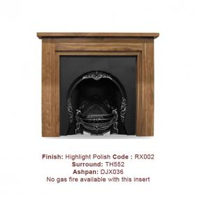 The Tiffany Cast Fireplace, in a Highlight Polish finish