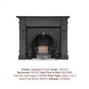 The Cherub Cast Fireplace in a Highlight Polish finish