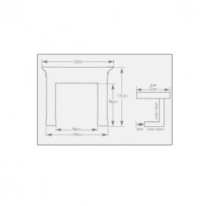 The Mayfair Fire Surround dimensions