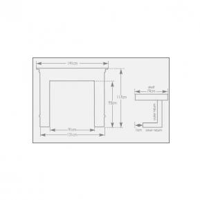The Albert Fire Surround dimensions