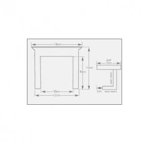 The Grosvenor Fire Surround dimensions