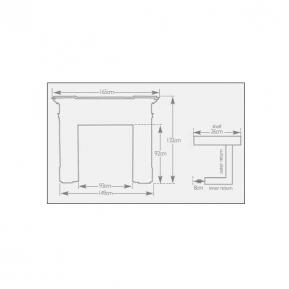 The Kingsbury Fire Surround dimensions