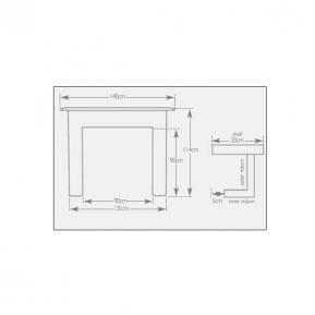 The Earlswood Fire Surround dimensions