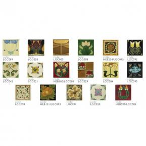 Square cut tiles, numerous designs available