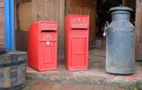 reclaimed post box