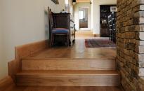 reclaimed wooden flooring in hallway