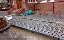 York Stone Paving Slabs outside home