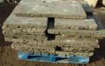 Neatly piles York Stone Paving slabs