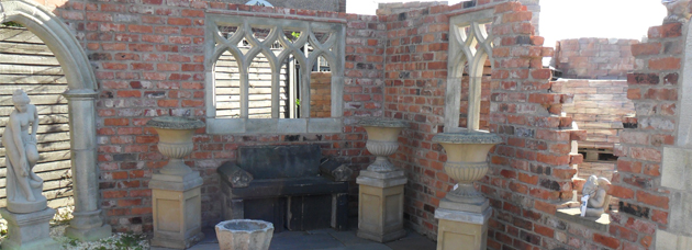 reclaimed bricks and ornaments